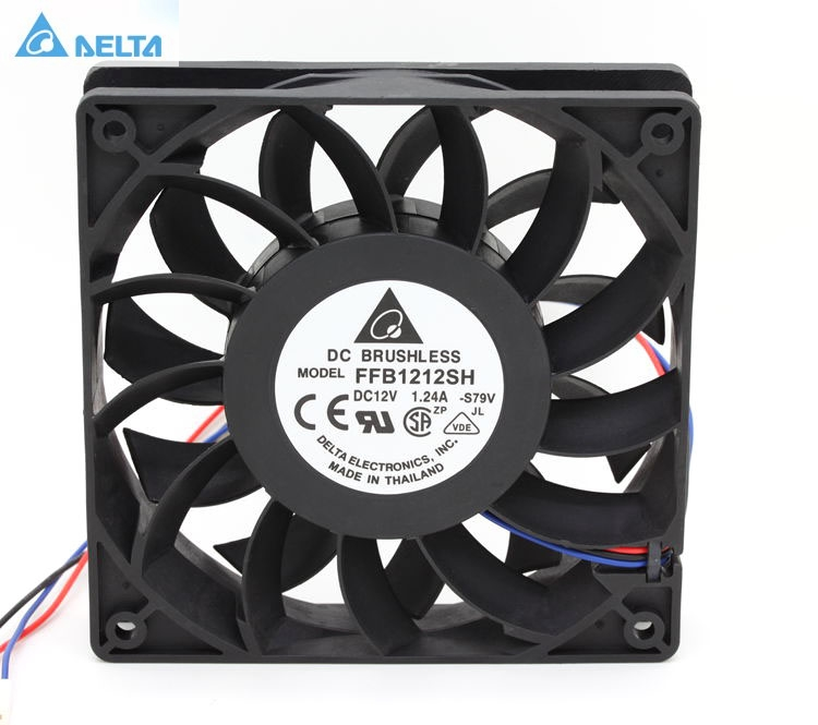 Delta FFB1212SH 12025 12cm 120mm DC 12V 1.24A 3-pin server inverter case axial cooler industrial fans