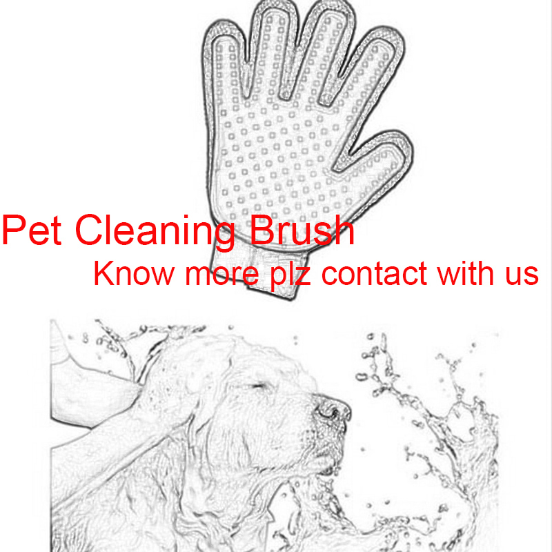 1 Pc Pet Cleaning Brush Dog Massage Hair Removal Grooming Magic Deshedding Glove Pet Finger