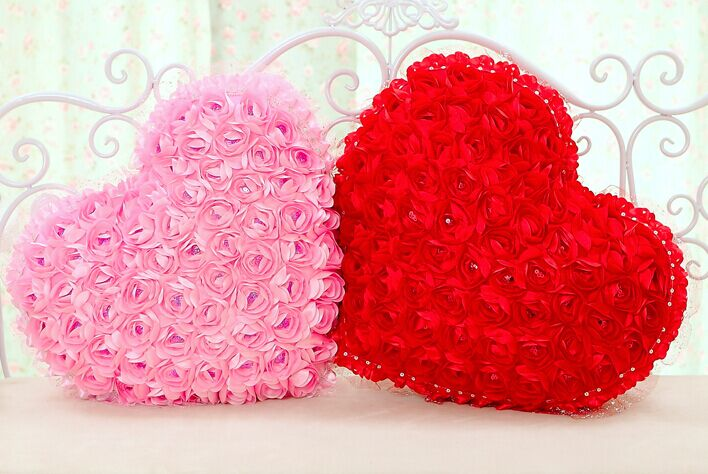 Roses Valentine S Day With Stuff Toys : Aliexpress buy cm roses flowers love pillow