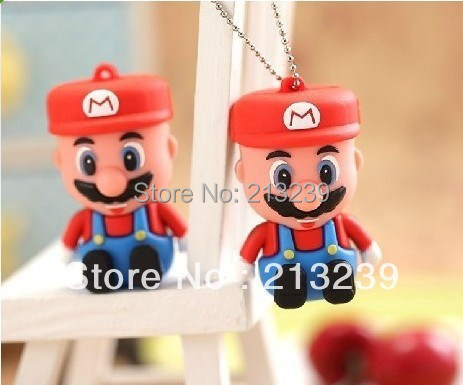 Wholesale!Genuine cartoon super mario 4gb/8gb/16gb/32gb usb 2.0 memory pen disk thumb/drive/gift