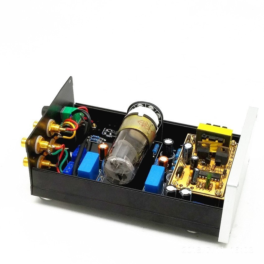 US $47 5 5% OFF|TIANCOOLKEI TUBE 01 6N8P vacuum tube preamplifier DC12V  version For audio amplifier-in Amplifier from Consumer Electronics on