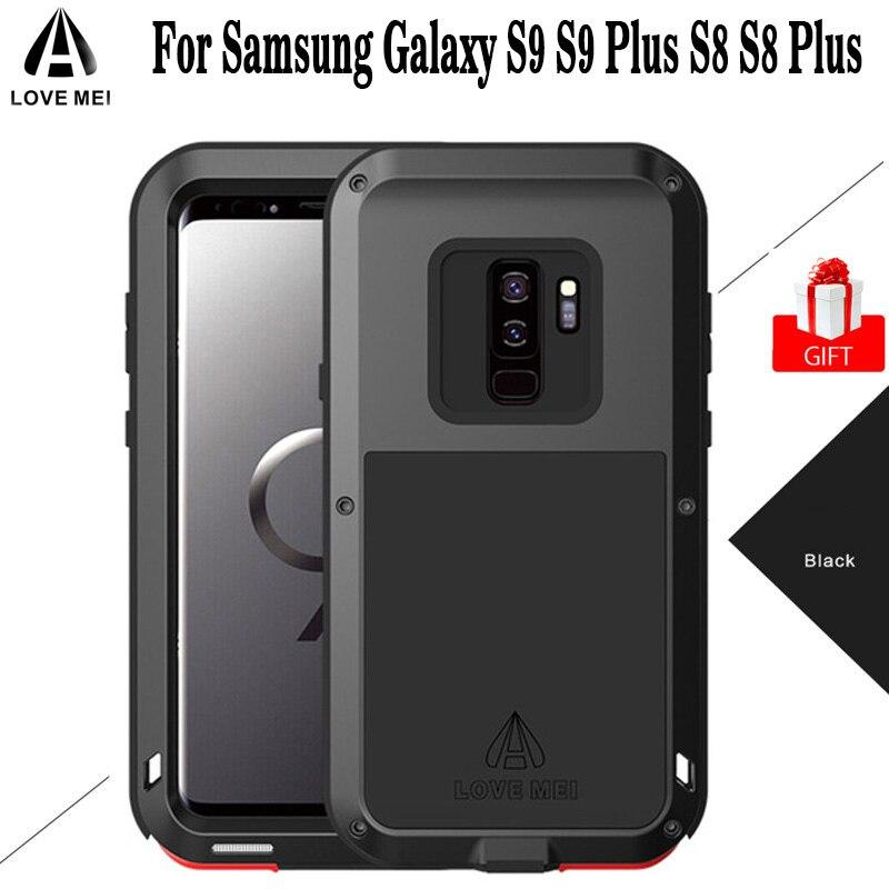 AMOUR origine MEI Antichoc En Aluminium Armure Cas Coque Pour Samsung Galaxy S9 S9 Plus S8 S8 Plus Note 8