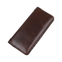 New Luxury Genuine Leather Clutch Wallet Men S Bifold Casual Business Long Wallet Credit Card Holder