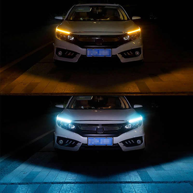 1 adet 17cm 12V COB LED DRL sürüş gündüz koşu ışıklar şerit COB LED DRL Bar çizgili Panel lambaları otomatik sürüş gündüz zaman işıkları