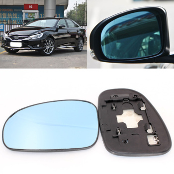 For Toyota Mark X 2005-2013 Side View Door Mirror Blue Glass With Base Heated 1 Pair