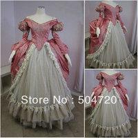 19 Century Pink Civil War Southern Belle Gown evening Dress/Victorian Lolita dresses/scarlett dress US6 26 V 252