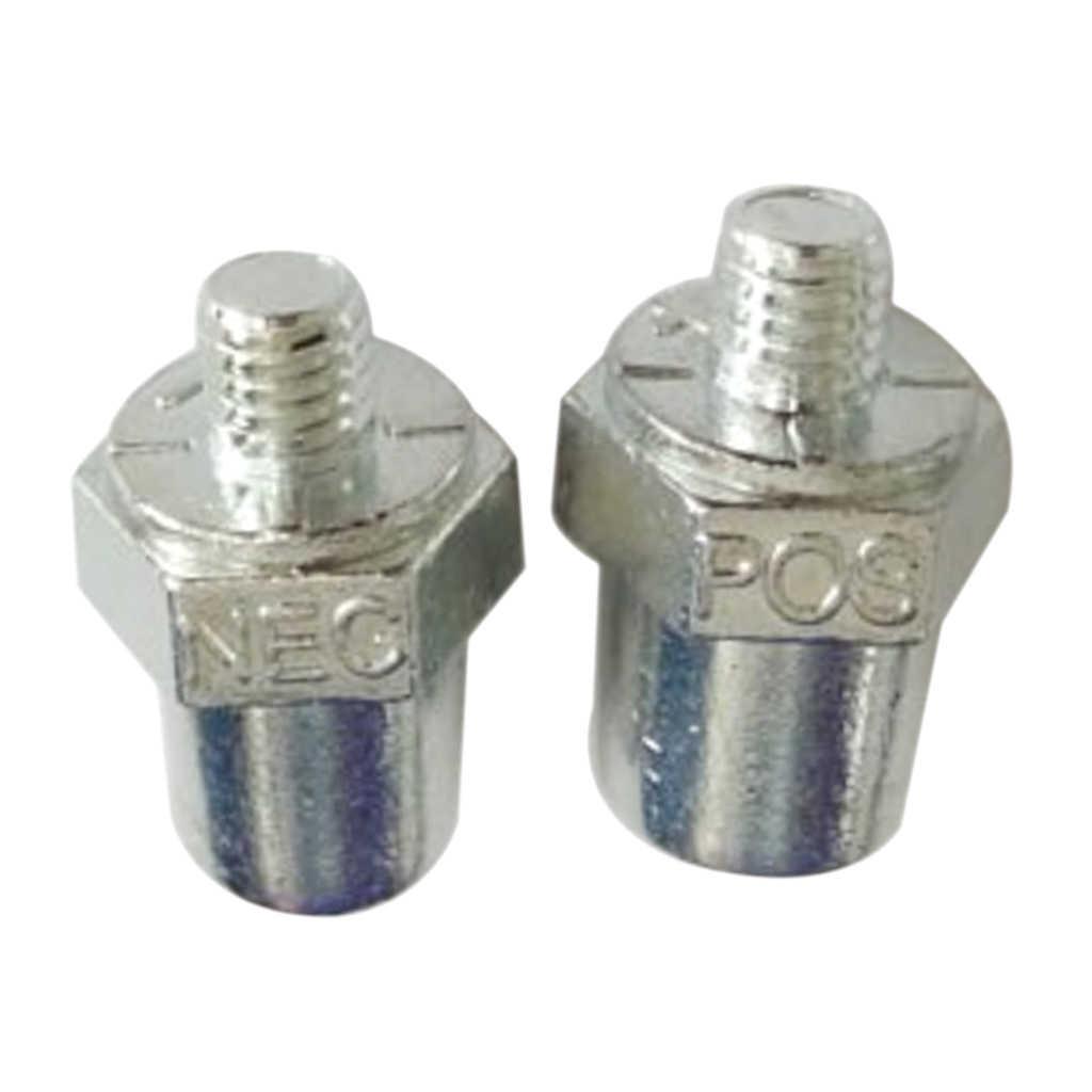 2Piece Positive Negative Car Battery Clamp Clip Terminal Connectors Cable