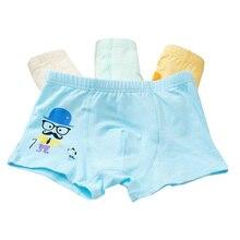 4 Pcs/Set Children Cotton Panties Kids Underwear Cartoon Boxer Briefs Boys Short Panties Children Clothing Underpants Baby Boy недорого
