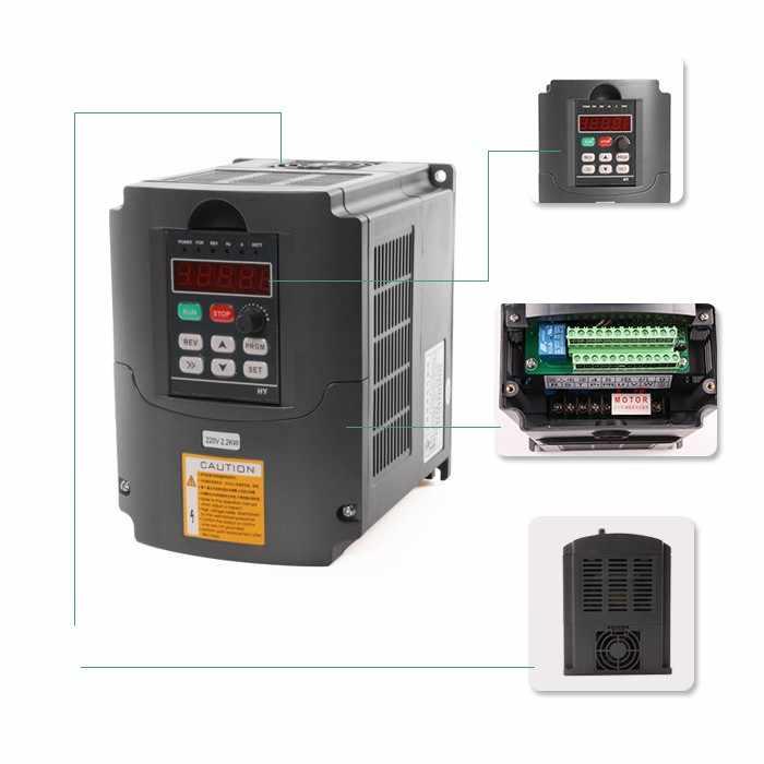 Moteur de broche refroidi à l'eau 1.5kw & 1.5kw VFD/Interver & 65mm pince & pompe/tuyau & 13 pièces ER11 (1-7mm) pour routeur de CNC