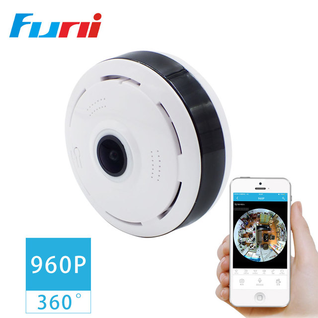 Funi V3604 HD 960P Small Security Camera FishEye IP Camera Wi Fi ...