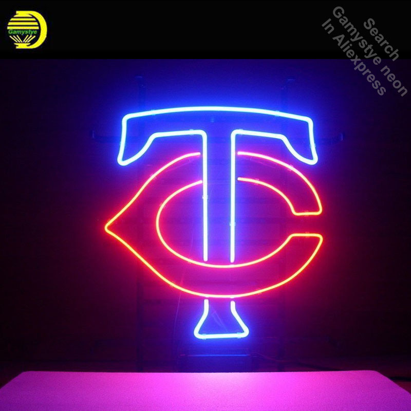Neon Sign Sport Teams MT Neon Light Sign Handcrafted Glass Tubes Customized Sport LOGO Fast Dropshipping Neon Lamps Wholesale led024 b open cocktail led neon light sign whiteboard wholesale dropshipping