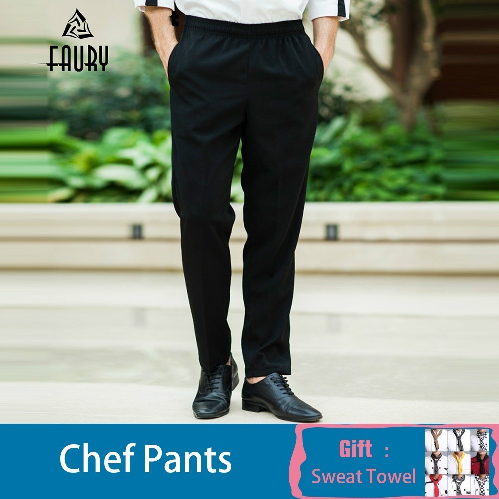 Chef Work Pants Black Chef Trousers Food Service Kitchen Restaurant Hotel Waiter Catering Cook Workwear Chef Uniform