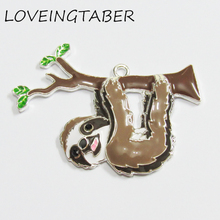 Pendants Jewelry-Making with Zinc-Alloy Lovely Sloth for Fashion 10pcs/Bag Newest All-Enamel