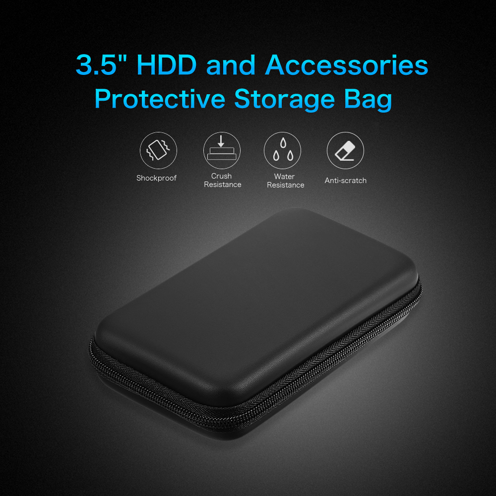 Eva Shockproof 2.5inch Hard Drive Case Pouch Bag 2.5 External Hdd Power Bank Accessories Hand Carry Travel Case Protect Bag Clearance Price Hard Drive Bags & Cases