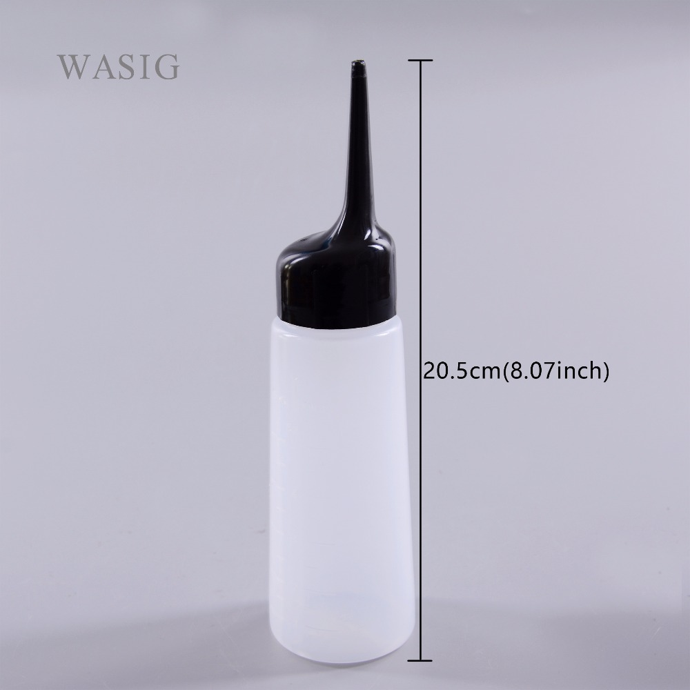 1pcsHair Salon Plastic Clear Twist Cap Hair Washing Squeeze Refillable Water Empty Bottle Hairdressing Cleaning Bottle Pot