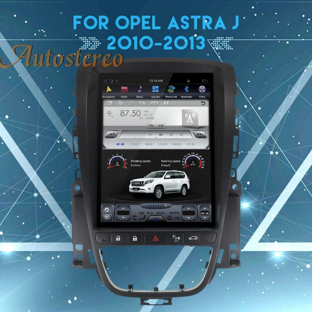 Tesla style Android7.1 Voiture sans lecteur DVD GPS navigation Stéréo Pour OPEL Vauxhall Holden Astra J 2010-2013 multimédia auto unité