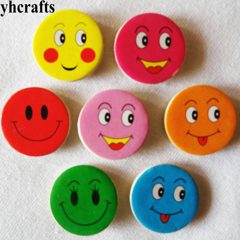 100PCS/LOT Smile Face Wood Stickers Bee Ladybug Animals Number Stickers Fridge Stickers School Reward Stickers Party Favor DIY