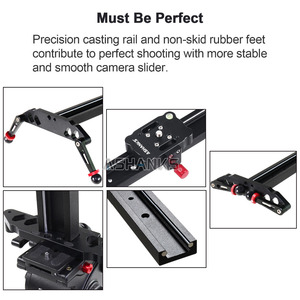 """Image 3 - ASHANKS Camera Slider 23""""/60cm Ball bearing Typed Rail System for DSLR and Video Camera, Smartphone for Youtuber and Film Maker"""
