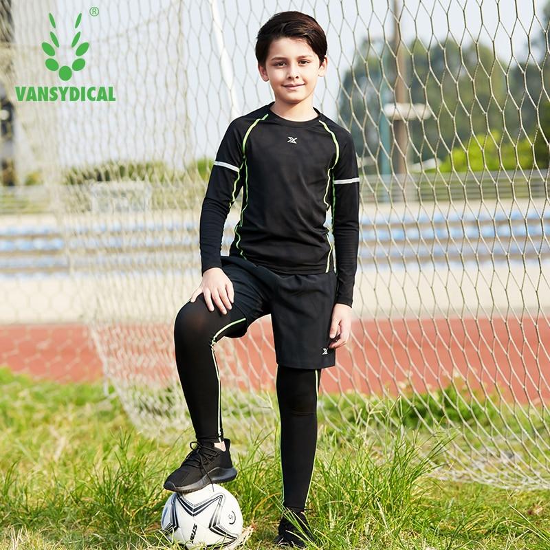 Children Sportswear Boys 3pcs Suits Elastic Fast Dry Sport Clothing Basketball Football Bottoming Long Sleeved Training Jerseys 44 rev 30 44 pistol pete basketball jerseys