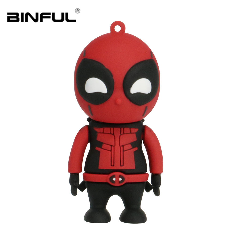 Image 3 - Spiderman Superman Usb Flash Drive Cartoon Usb 2.0 Pen Drive 4gb 8gb 16gb 32gb 64gb 128gb Pendrive Usb Stick Free Shipping-in USB Flash Drives from Computer & Office