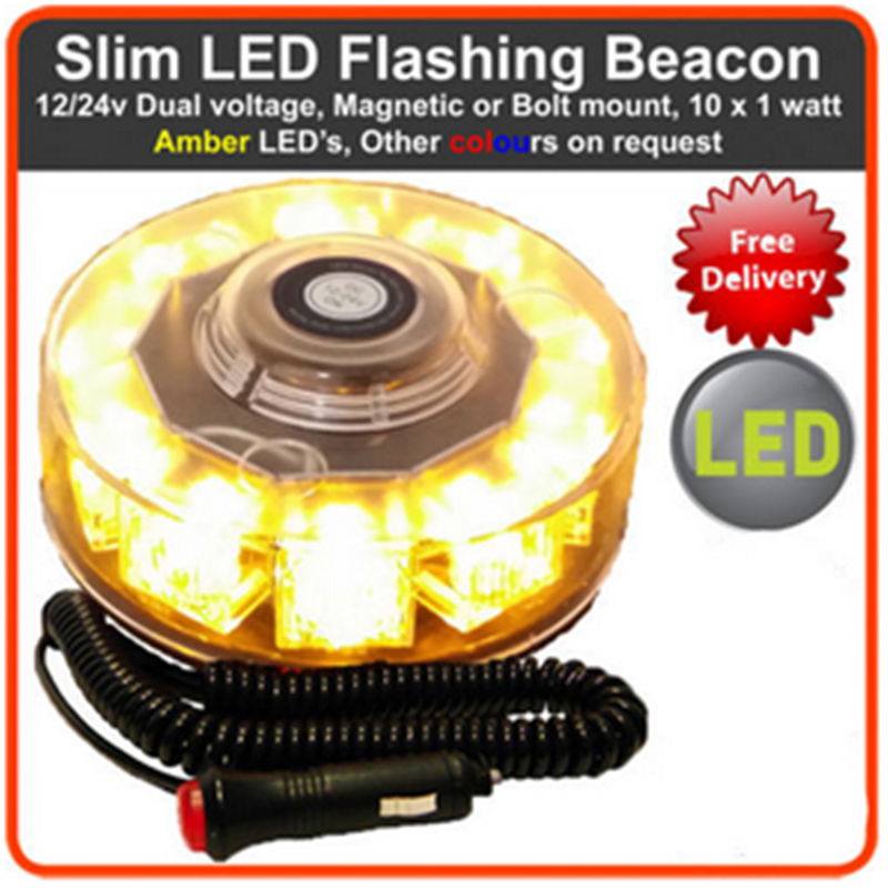 NEW 12V 10W Car Auto LED BEACON Emergency Recovery Flashing Warning Strobe font b Lights b