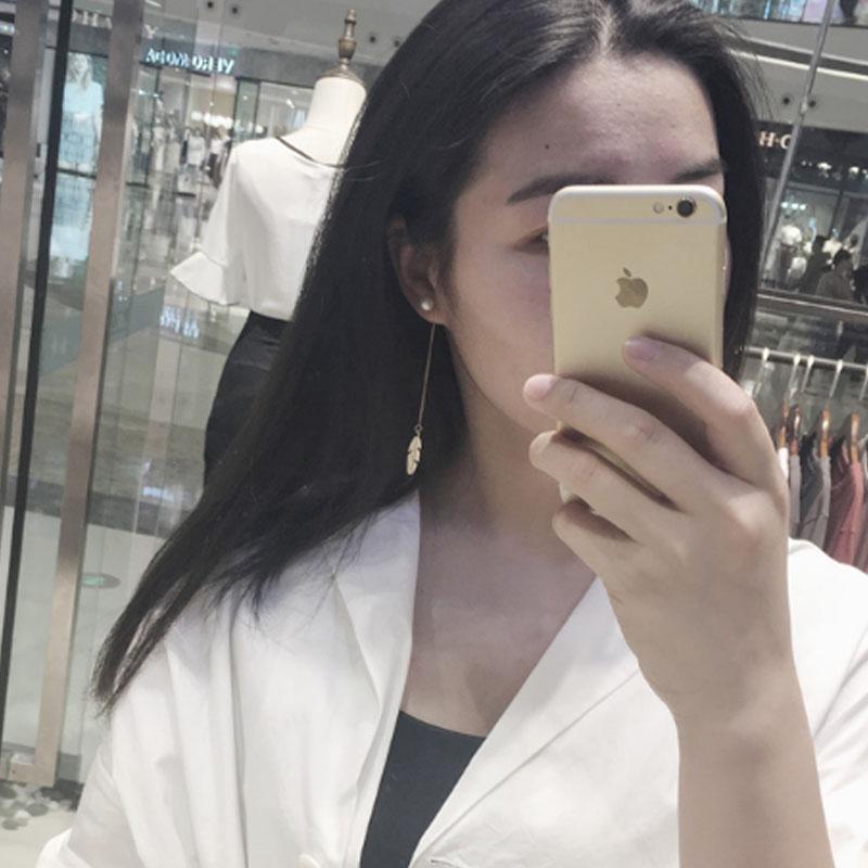 Leaf tassel jewellery earrings