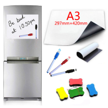 Eraser Magnets Whiteboard-Fridge Magnetic-Marker-Pen Writing-Record-Board Wipe Flexible