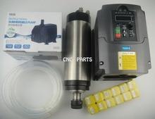 цена на CNC milling spindle ER20 2.2KW water cooling spindle+ 2.2KW VFD inverter+ER20 collets+water pump +water pipe
