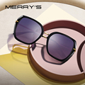 Женские винтажные солнцезащитные очки MERRYS, дизайнерские брендовые трендовые поляризационные очки кошачий глаз, с защитой UV400, S6182