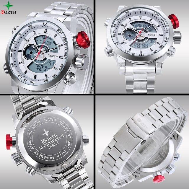 Male Sport Watch Multifunction LED Digital Dual Time Hours Wrist Analog Round 2017 Fashion Casual Quartz Men Sport Wristwatch