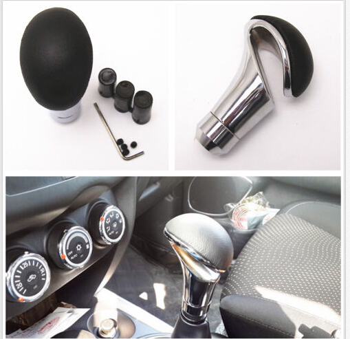 Gold 30cm Car Manual Shift Knob Gear Shift Head Shifter Lever Stick