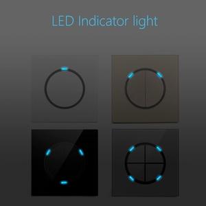 Image 2 - LED Licht 4 Kleur Schakelaar 1 2 3 4 Knop Wandschakelaar Luxe Crystal Glass Panel Switch Interruptor 16A Standaard