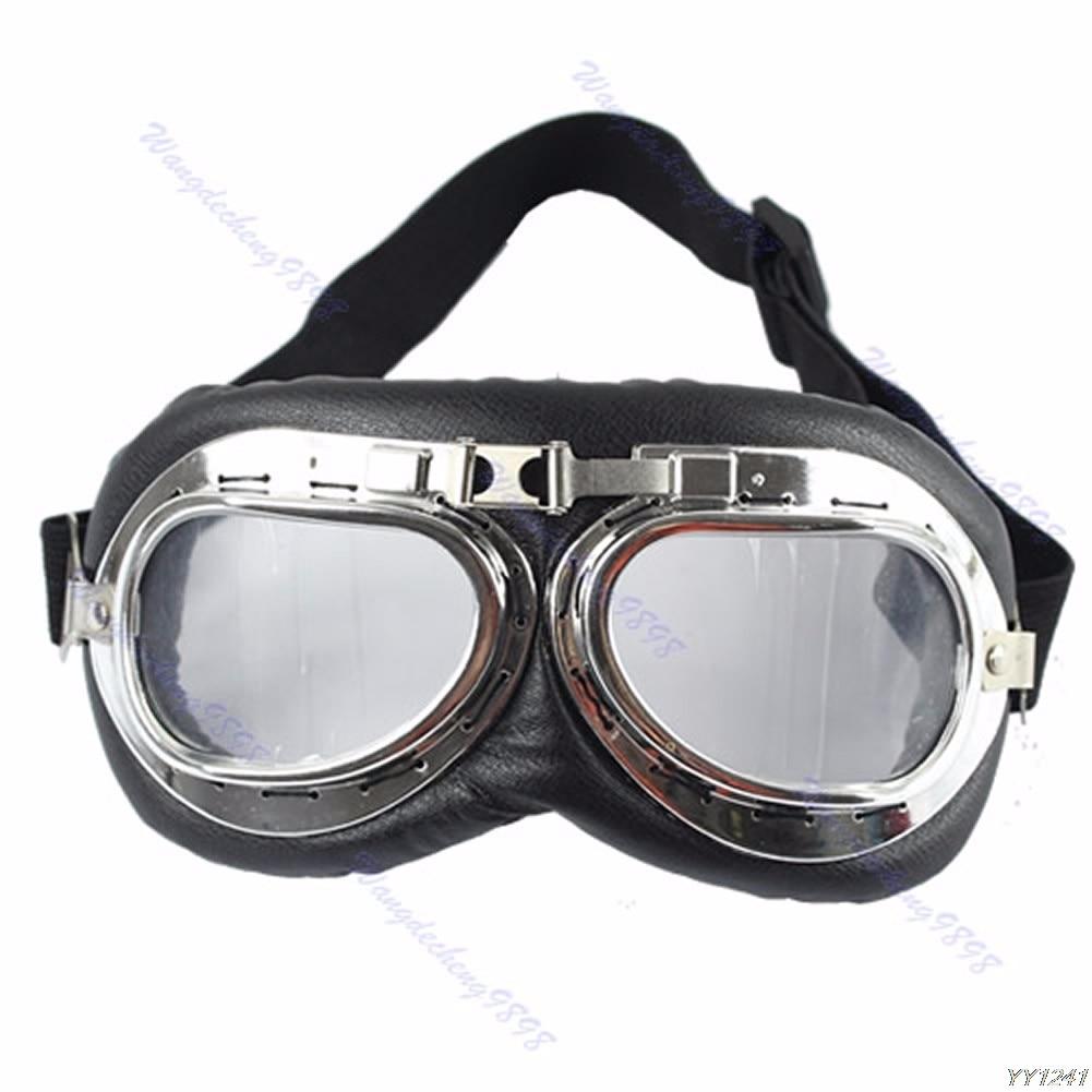 Vintage Motorcycle Bike Glasses Scooter Cruiser Helmet Pilot Goggles New все цены