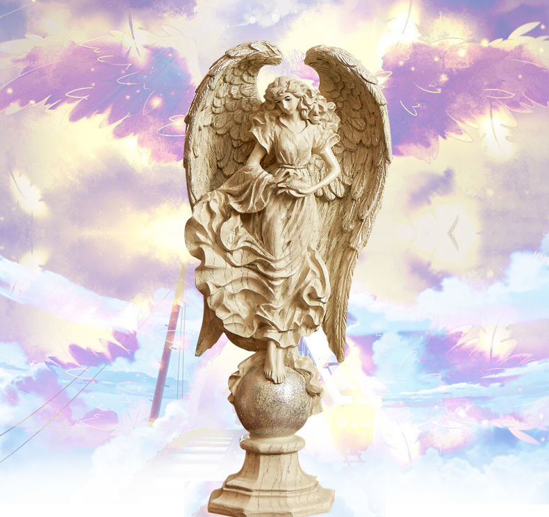 Home Decor Katina Angel Statue Sculpture-in Figurines