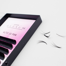GLESUM 0.05 0.07C/D Auto  Blooming 1S Fans Beautiful eyelashes magic eyelash volume easy to make fan effect false eyelash