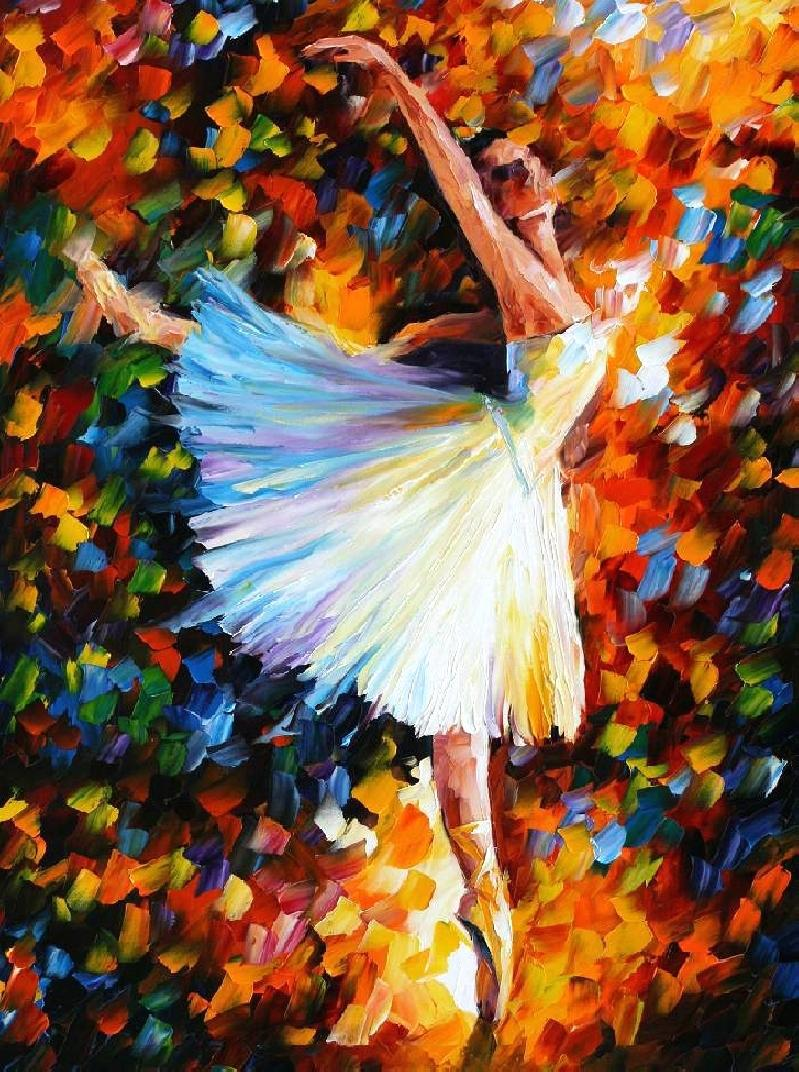 Online Shop Beautiful Painting Home Decor Ballet Dancer Colorful Oil Paintings Canvas Abstract Modern Fine Art High Quality Hand Painted