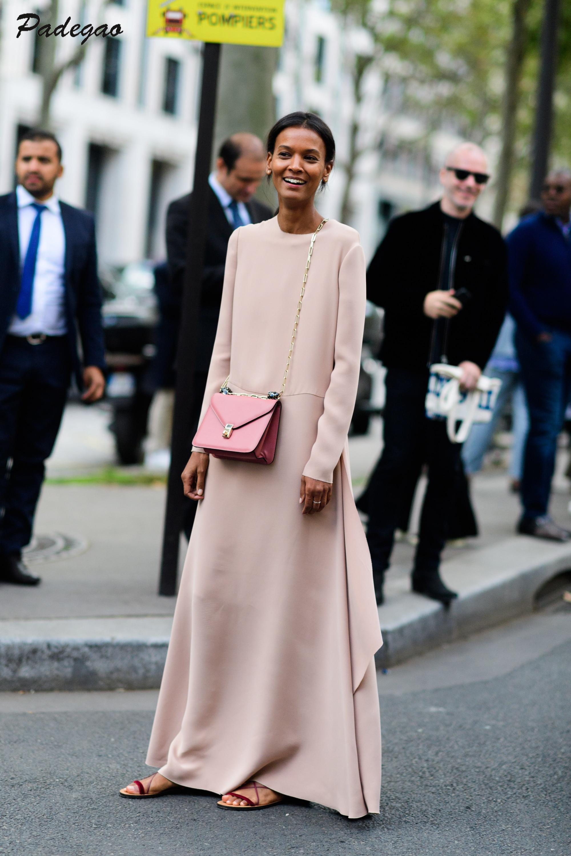 AEL luźna długa sukienka nieregularne eleganckie odzież obcisła wiosna 2019 moda Blogger Lady szata wysokiej jakości proste Style odzież w Suknie od Odzież damska na  Grupa 1