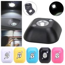 Mini LED Wireless Night Light Infrared Motion Activated Sensor Lights Battery Powered Wall Emergency Wardrobe Cabinet Night Lamp