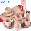 Kid's Soft Wooden Blocks Set Pretend Play Cooking Educational Toy High Quanlity gift for children