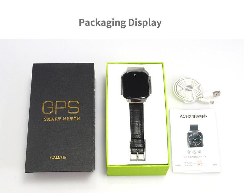 A19 LBS + GPS + emplacement WIFI montre de sécurité intelligente pour bébé appel SOS pour surveiller vos enfants et enfants suivi Smartwatch support carte SIM - 6