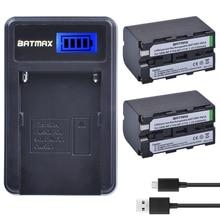2 Stuks 5200Mah Np F750 Np F770 NP F750 Batterij Akku + Lcd Usb Lader Voor Sony Np F970 F960 f550 F570 QM91D CCD RV100 TRU47E