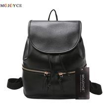 Fashion Soft Leather Women Backpack Korean Style Ladies Strap Daily Teenage Girl Back pack Mochila Feminina