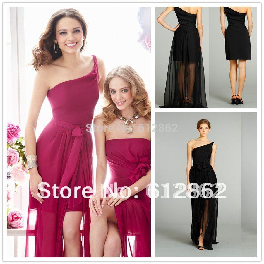 Bridesmaid dress with detachable skirt best skirt 2017 la femme 19723 detachable skirt hi low party dress french novelty ombrellifo Images