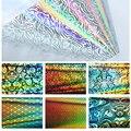 2017 Novo 16 Pçs/set Holográfica 20*4 cm Unhas de Transferência Da Arte do Prego Foils Adesivos Adesivo Unha Polonês Manicure dicas