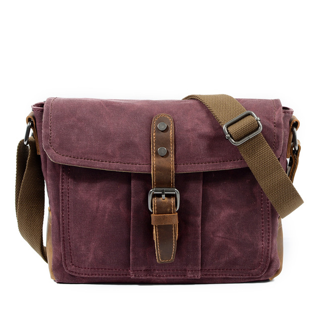 Mco 2018 Vintage Waxed Canvas Messenger Bag For Men Military Male Travel Crossbody Waterproof Basic