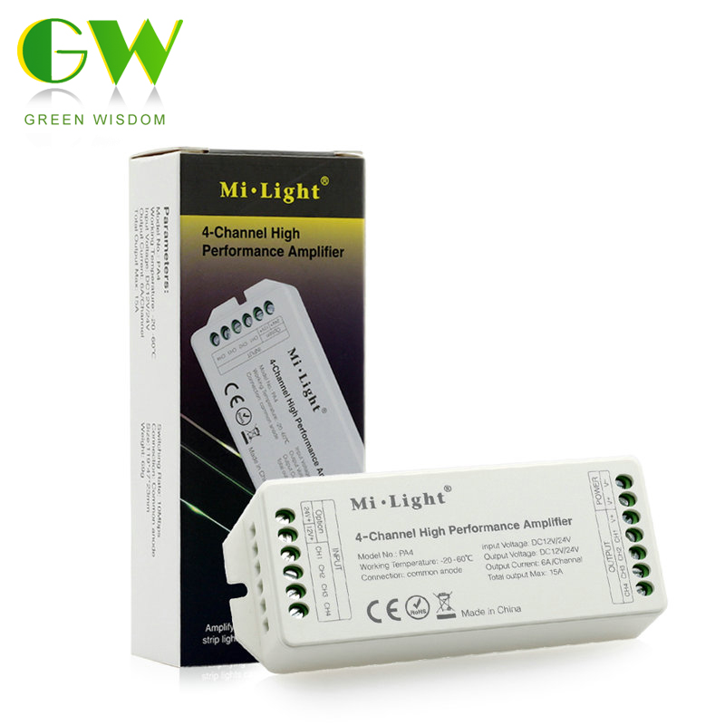 font b Mi b font Light PA4 4 Channel High Performance Amplifier DC12V 24V Max