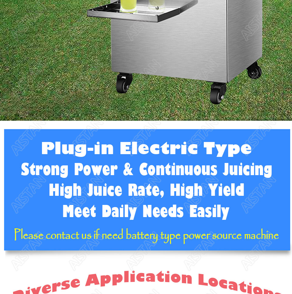 LFS17/LFS17T electric stainless steel commercial sugar cane juicer presser machine 2