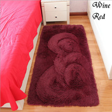 Free Shipping Wine Red Rectangle Bath Mat Bedroom Floor Carpet 40x60cm/50x80cm/50x160cm/80x160cm Absorbent Non-Slip Doormat