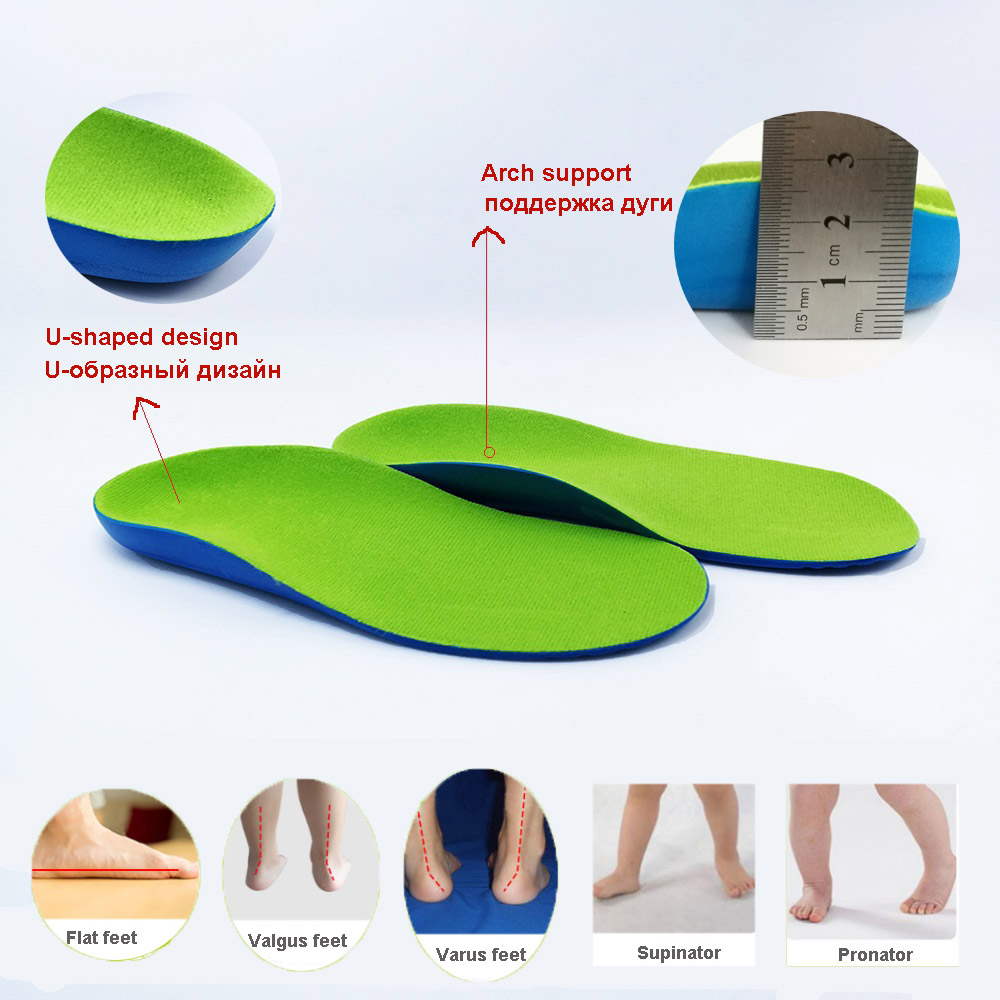small resolution of kids orthopedic insole with arch support children boys green orthopedic insole toddler baby girls foot care healthy sole