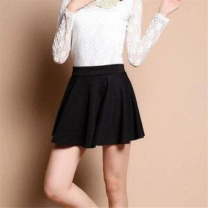 Image 3 - Mùa Hè Hàn Quốc Váy Nữ Gợi Cảm Mini Jupe Femme Váy Xếp Ly Faldas Cortas Saia Vũ Jupe Phối Voan Váy Đáng Etek tutu